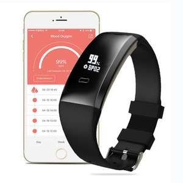 WP101 OLED Blutdruck SpO₂ Herzfrequenz Gesundheit Monitor Sport Tracker voor €11,18 @ Banggood