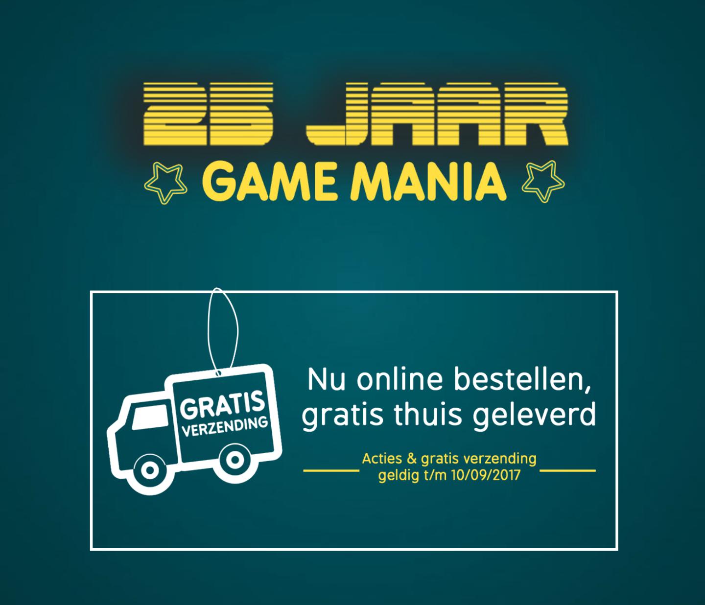 Gratis verzending op alles @ Gamemania