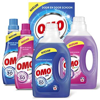 Omo wasmiddel 5 voor €10 + gratis Glorix toiletblok t.w.v. €2,65 @ Dirk