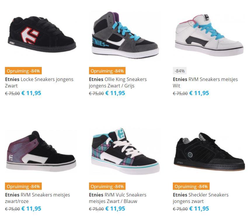 Etnies sneakers met hoge korting - 15+ voor €11,95 @ Internet Sports & Casuals