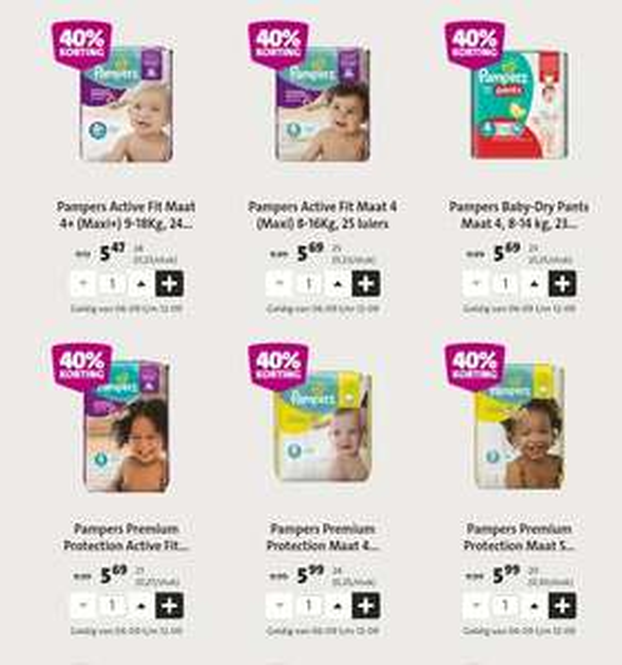 Pampers Baby Dry Pants, Premium Protect of Active Fit 40% korting bij Jumbo (alleen vandaag en morgen nog)