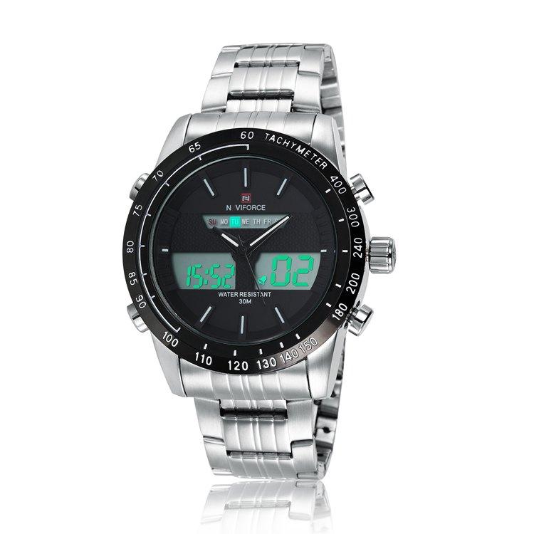 NAVIFORCE 9024 Steel Strap Quartz Digital Watch voor €11,03 na code @ Gamiss