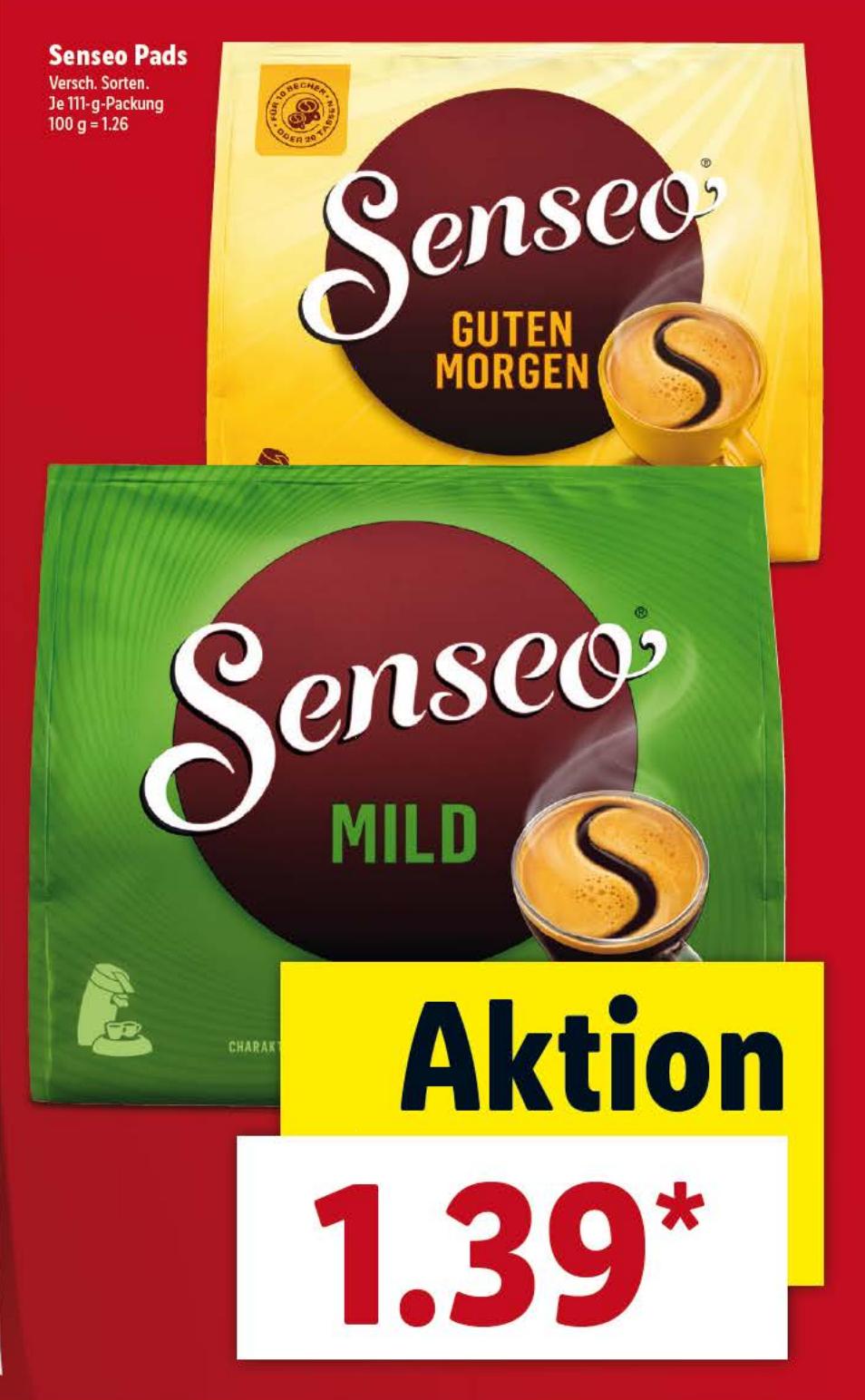 Senseo (Mild) Koffiepads @ Lidl.de [Grensdeal]