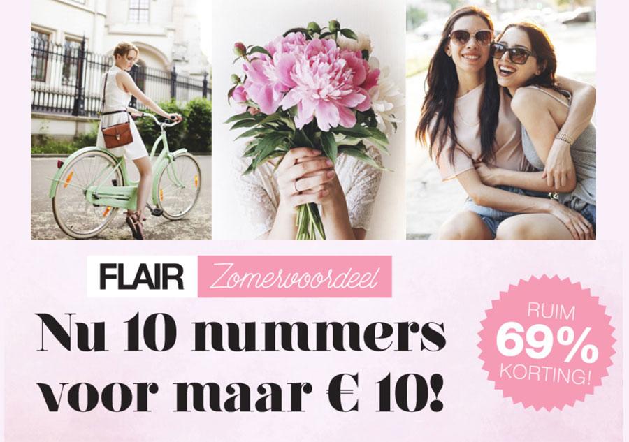 Abonnement 10x voor €10 @ Flair