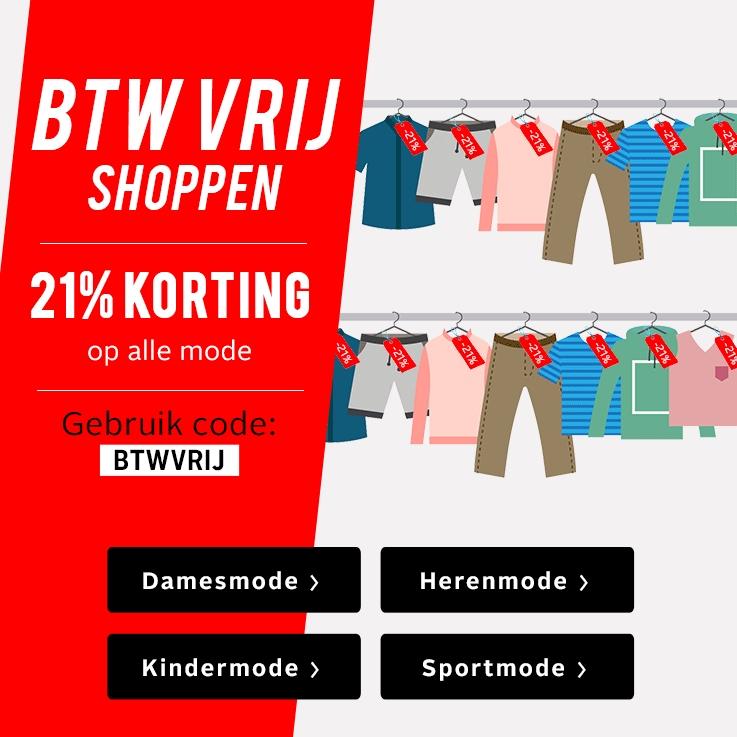 BTW vrij shoppen, 21% korting op alle mode! (Otto)