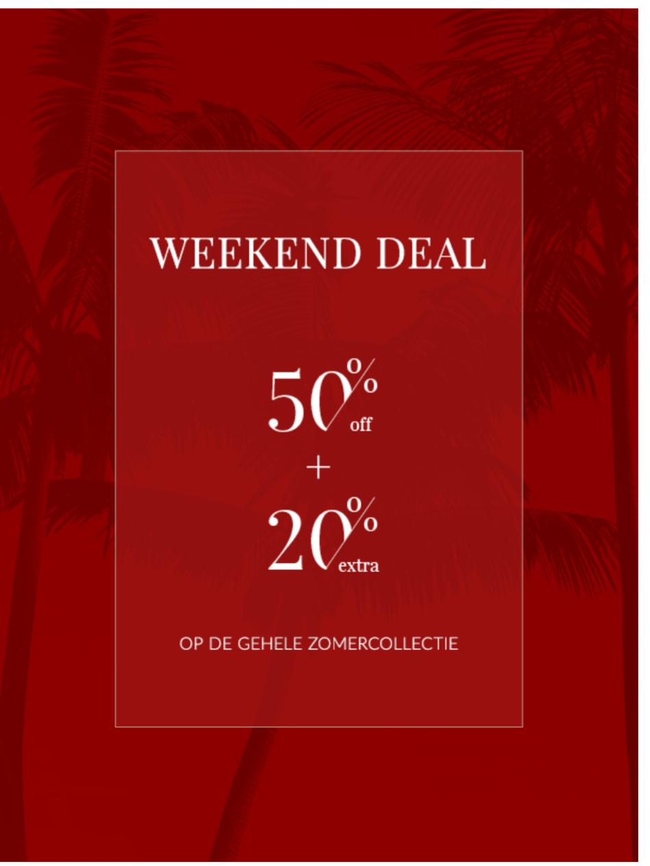 Weekenddeal bij mc gregor, 20% extra korting