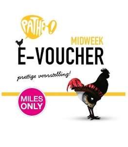 Gratis Pathé bioscoopticket midweek e-voucher bij 1.050 Air Miles