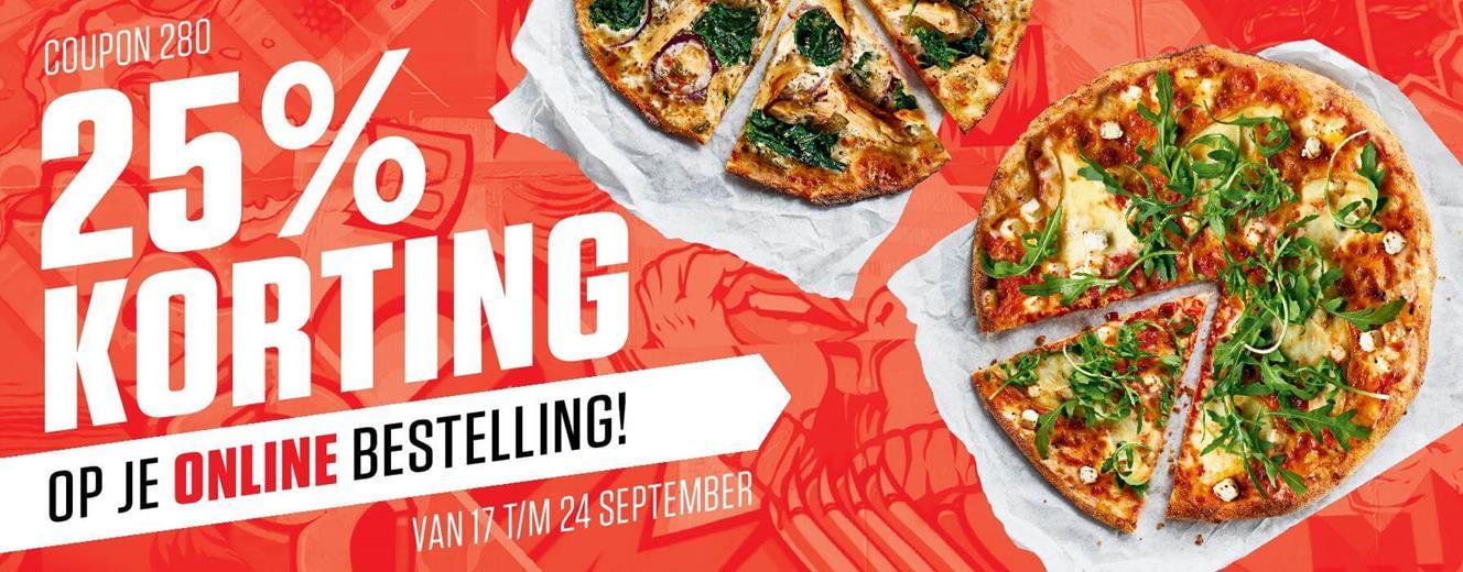 New York Pizza 25% korting ( 17 t/m 24 september)