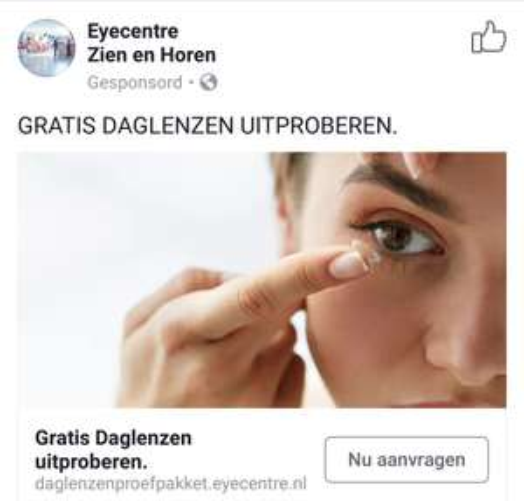 Gratis 5 paar daglenzen bij Eyecente Zien en Horen