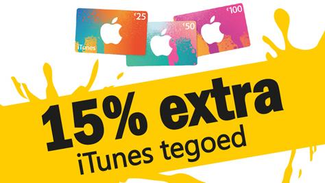 15% extra iTunes tegoed @ Jumbo