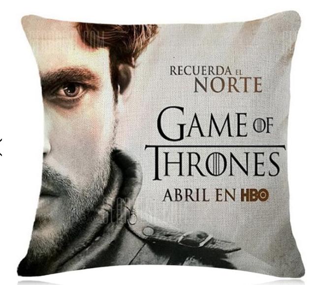 Game of Thrones kussenslopen  voor €0,83 @ Gearbest