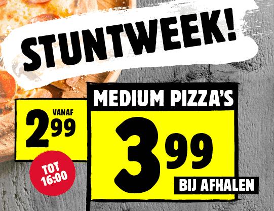 Medium pizza's vanaf €2,99 bij Domino's
