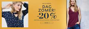 20% extra korting op top/shirt/blouse @ street one