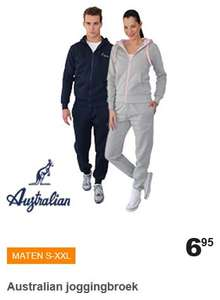 Australian joggingbroek - dames / heren €6,95 @ Action