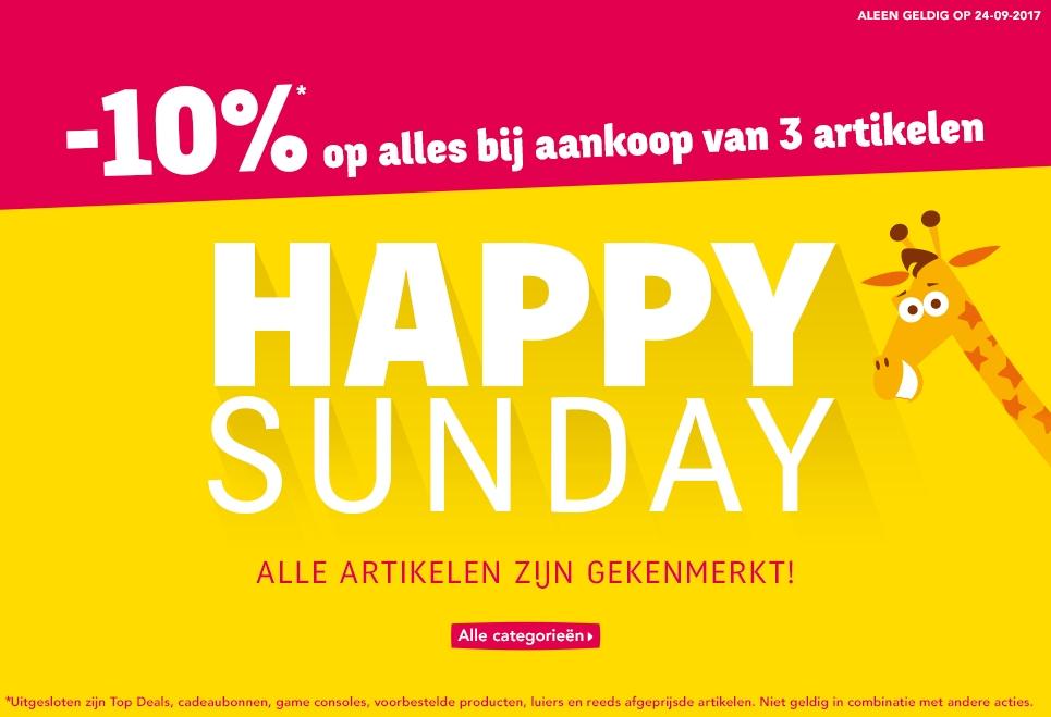 """Happy Sunday: 10% op alles bij aankoop van minimaal 3 artikelen @ Toys""""R""""Us"""