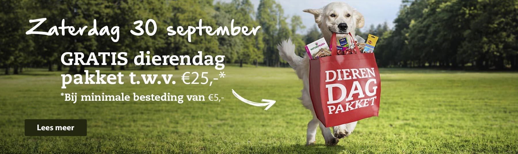 (Gratis) dierendagpakket bbv €5.00 @ Boerenbond/Pets Place