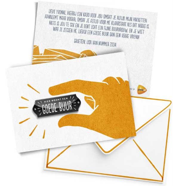 Gratis 'Goede Buur' bedankkaartje @ PostNL