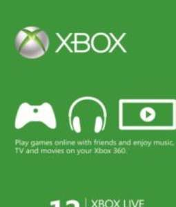 Xbox Live GOLD Subscription Card XBOX LIVE GLOBAL 12 Months @  G2A