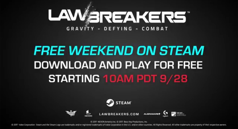 LawBreakers dit weekend gratis speelbaar @ Steam