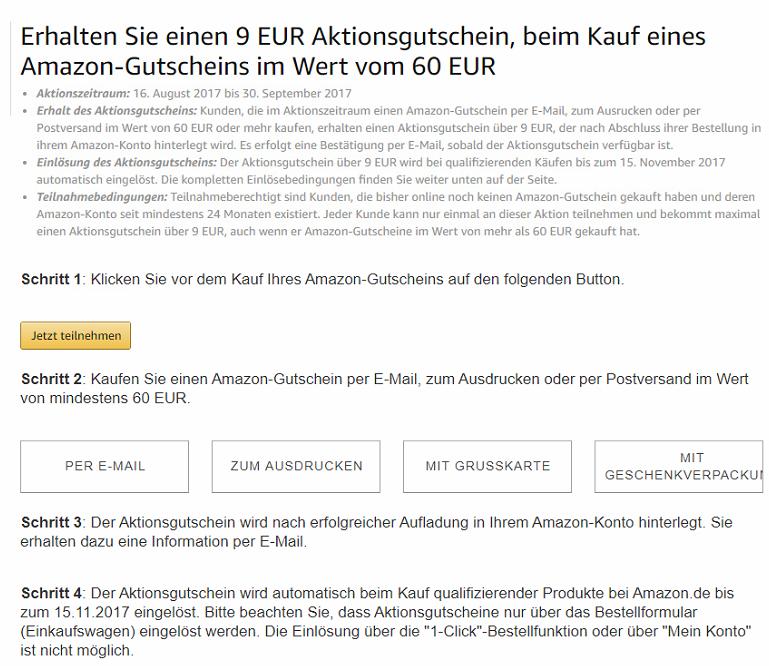 koop een Amazon cadeaubon van €60 en ontvang €9 tegoed @amazon.de