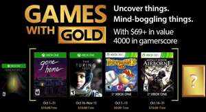 Games with Gold oktober @ Xbox Store
