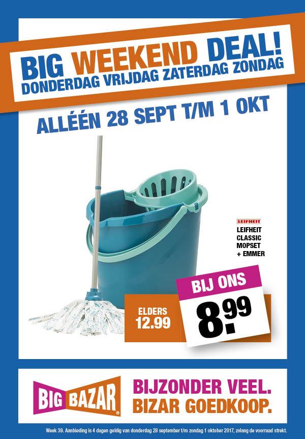 Leifheit 56792 Classic Mop Set voor €8,99 @ Big Bazar