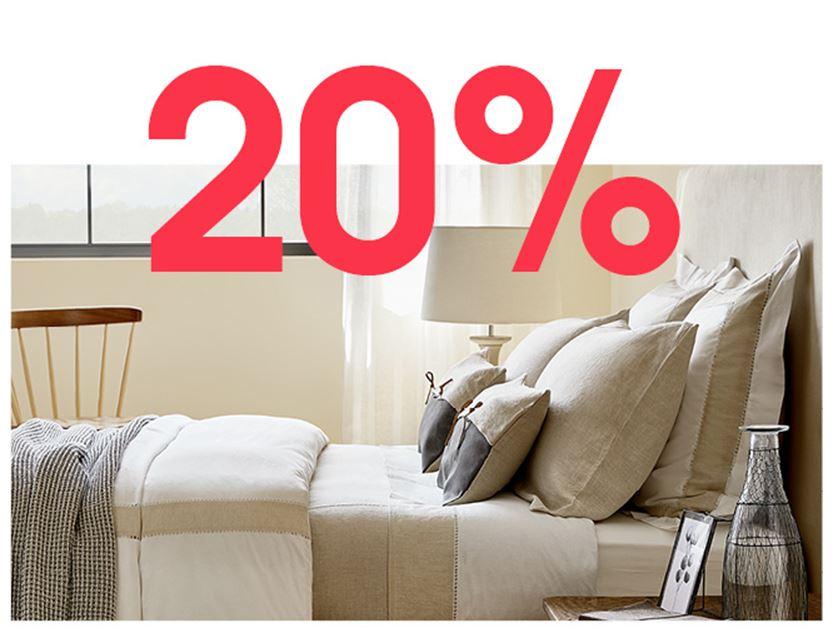 Va 20 uur: 20% korting + gratis verzending @ ZARA Home
