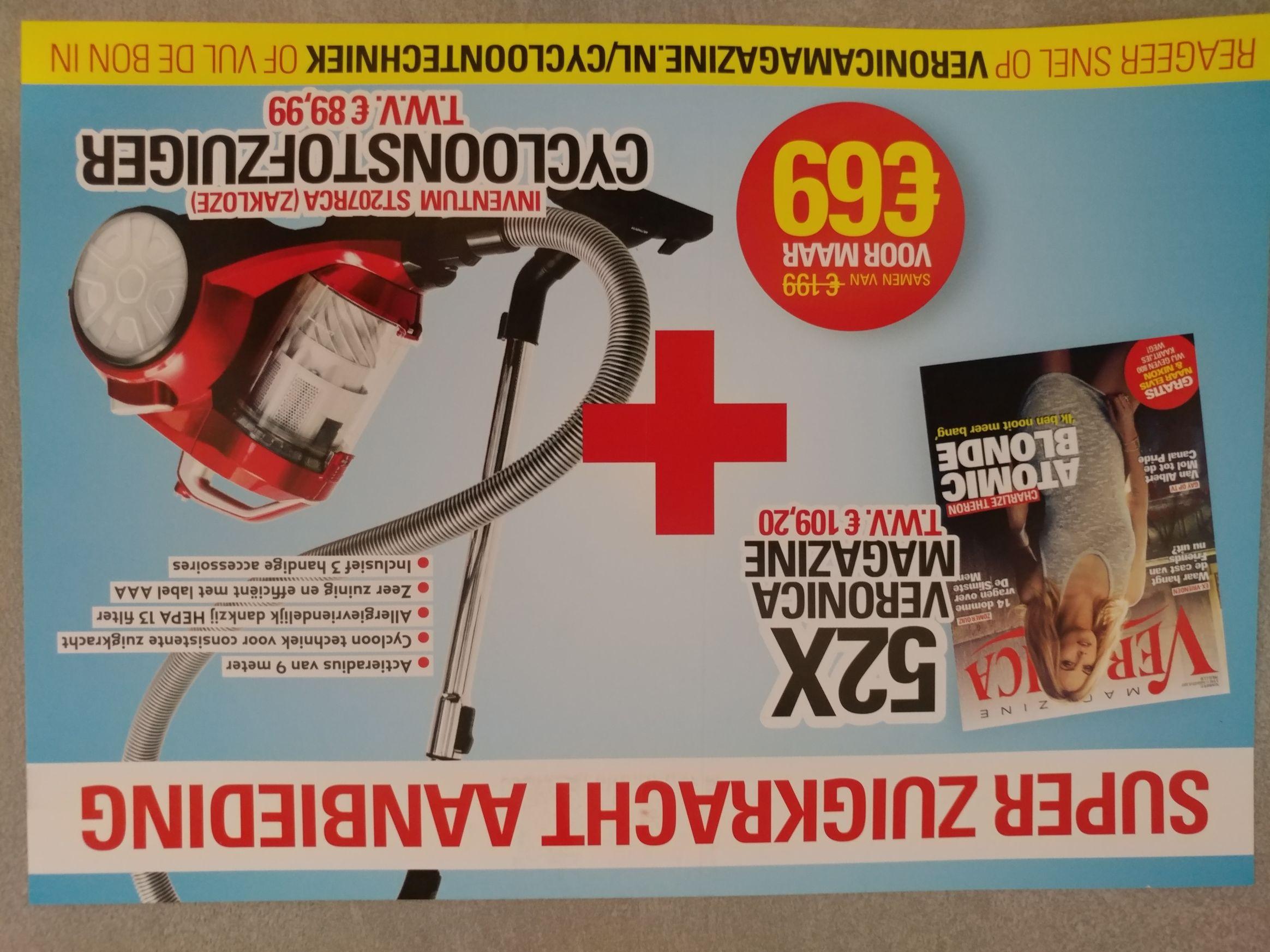 Zakloze stofzuiger ST207RCA + 1jr Veronica magazine voor €69 @ Veronica
