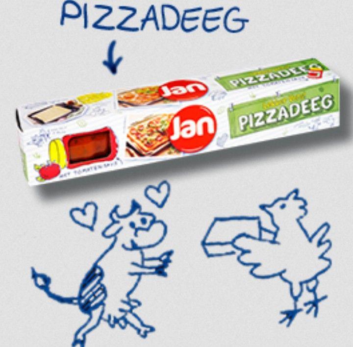 Gratis Jan pizzadeeg met tomatensaus