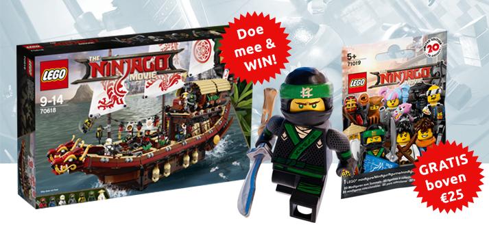 Bij elke LEGO Ninjago bestelling boven de €25 een gratis Ninjago zakje Minifiguur