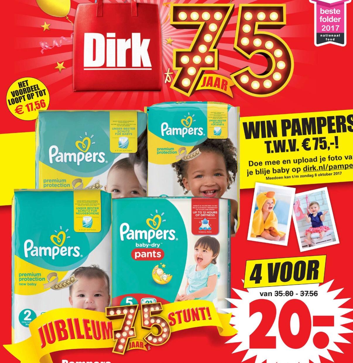 4 pakken Pamper voor €20 @ Dirk