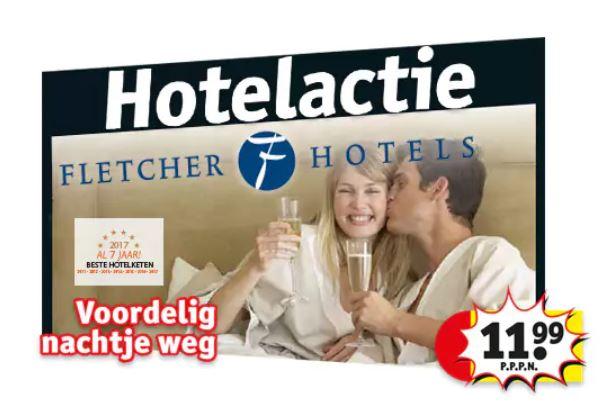 Hotelactie: Fletcher 3- of 4-sterrenhotel €11,99 p.p. @ Kruidvat