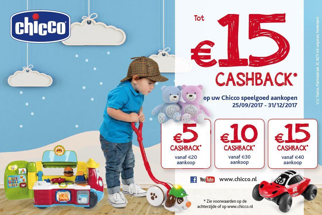 Tot 15€ cashback op uw Chicco speelgoed aankopen