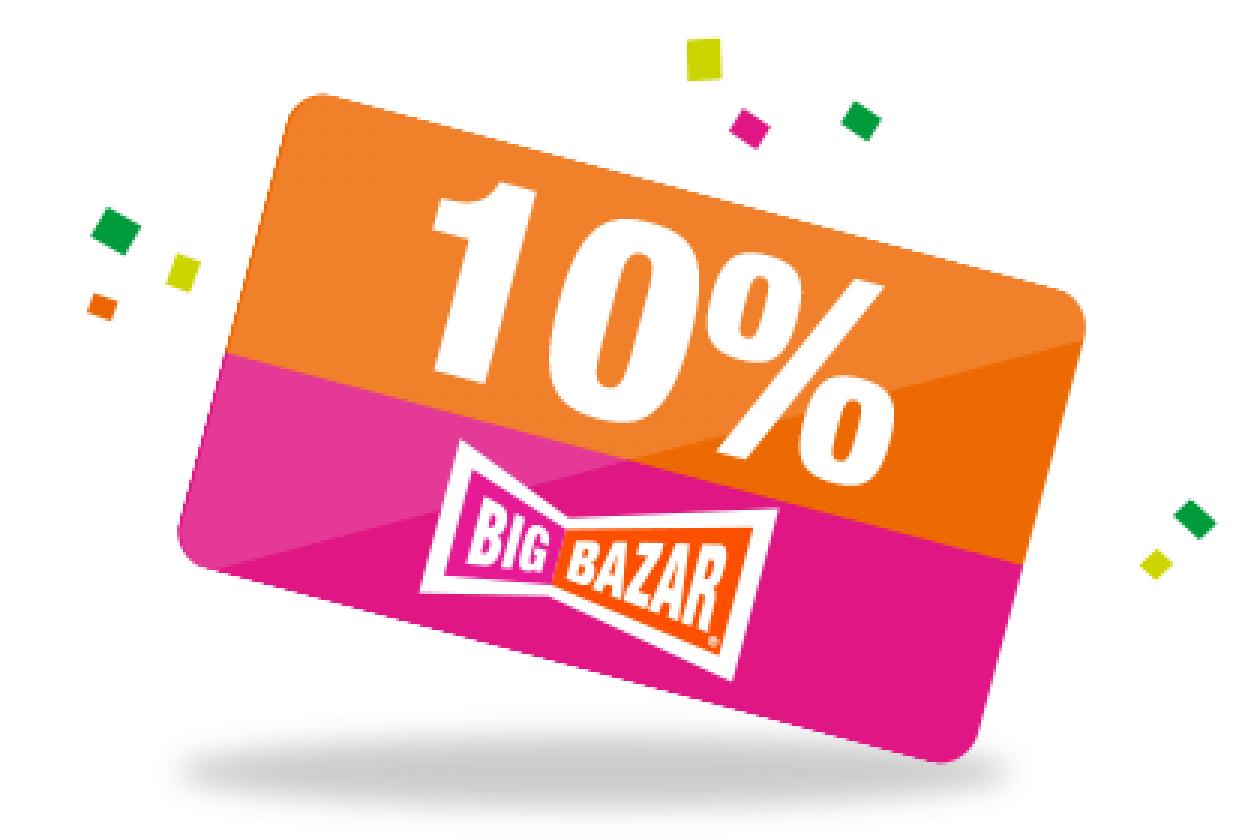 10% Korting bij Bigbazar