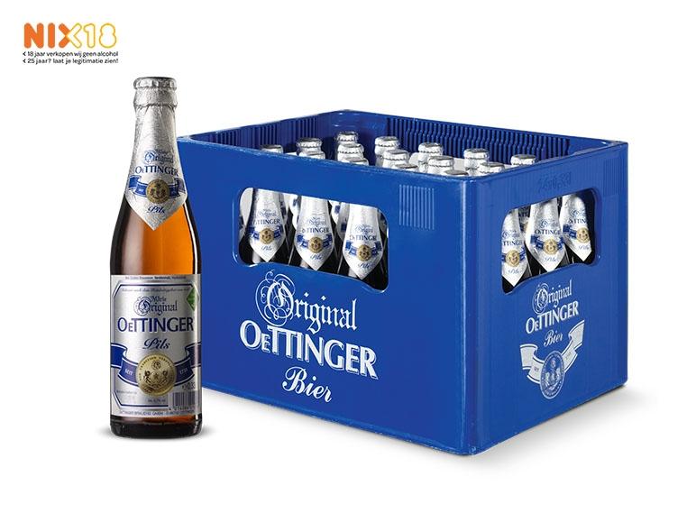 Lidl: 7 en 8 oktober Oettinger pils voor maar 5,99 per krat