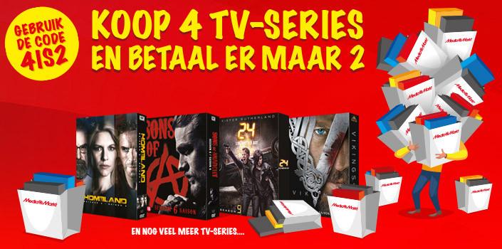 4 halen 2 betalen op alle tv series door kortingscode + BTW korting @ Media Markt