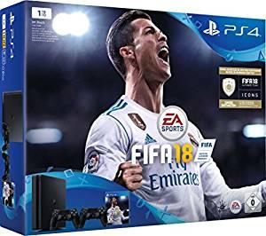 PS4 1TB Slim FIFA 18 + 2x DualShock 4 Controllers voor €299 (500GB voor €249) @ Amazon.de