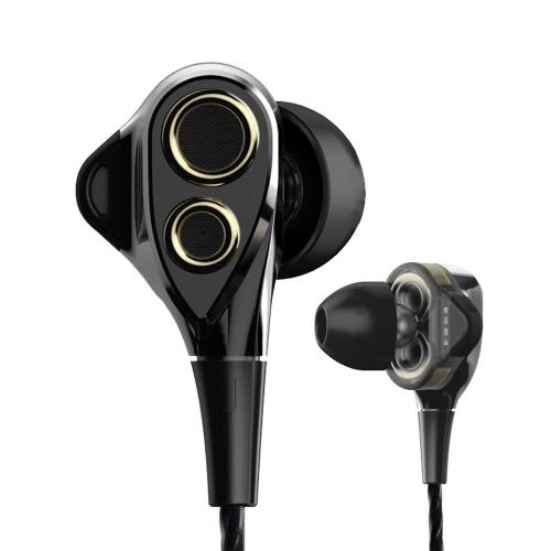 Dual Dynamic Driver In- Ear Music Earphone voor €4,75 @ Tomtop