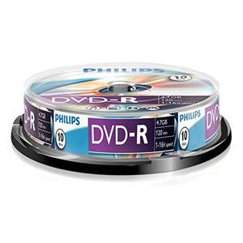 [Plus Product] Philips DVD-R (4.7 GB Data/120 minuten Video, 16 x High-Speed-opname, 10-delige spindel) voor €2,90 @ Amazon.de