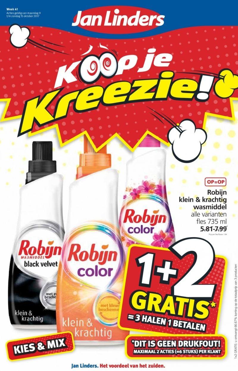 Robijn 1+2 gratis @ Jan Linders