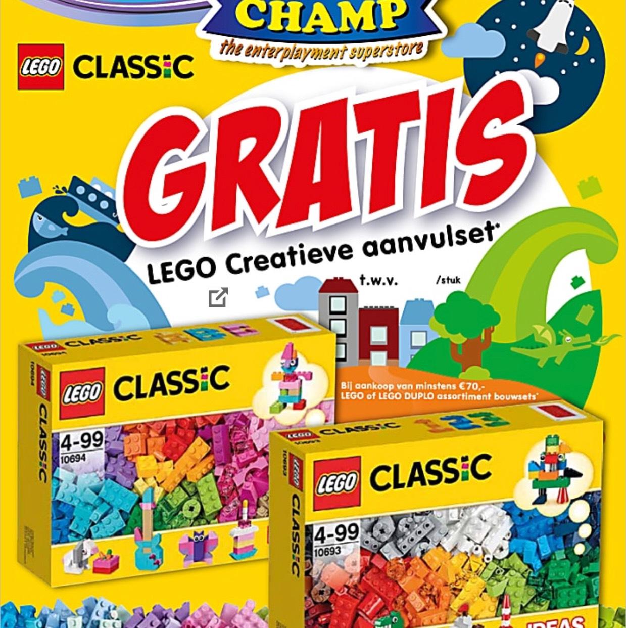 Gratis Lego Classic t.w.v. €19,99 bij besteding van €70,- @ToyChamp