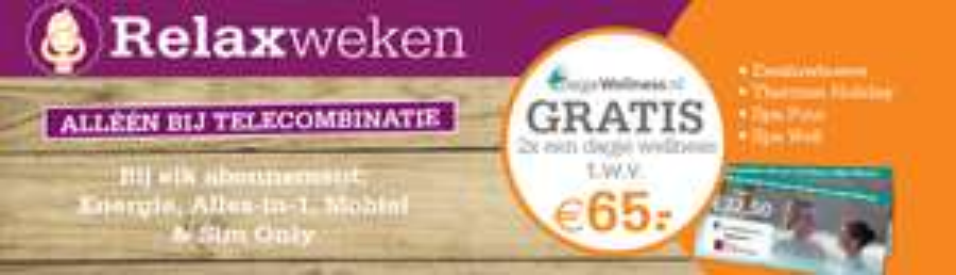 Sim Only vanaf 4 euro + 2 Dagje Wellness tickets