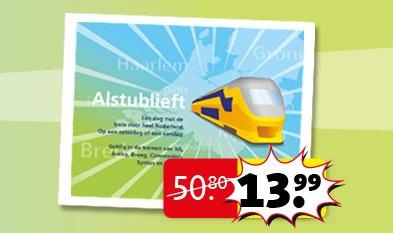 Trein dagkaart vanaf 3 februari voor €13,99 @ Kruidvat