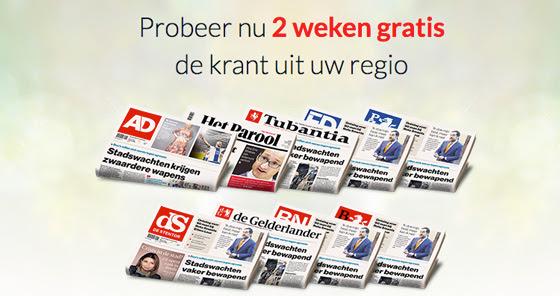 2 weken gratis een regionaal dagblad, abonnement stopt automatisch