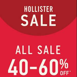Tot 60 procent sale @ Hollister