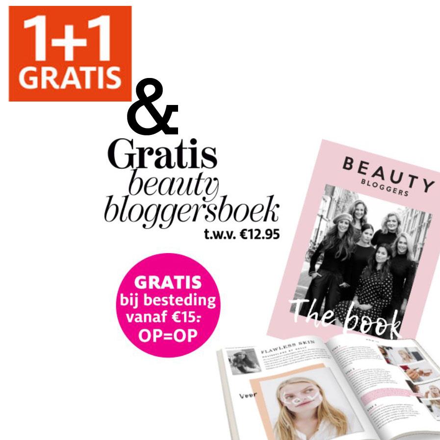 Heel veel 1+1 gratis + gratis blogger beautyboek t.w.v. €12,95 (min €15) @ ETOS