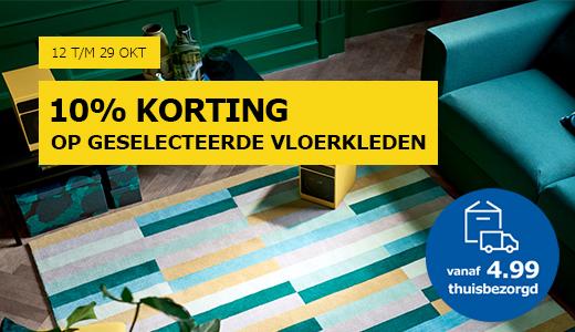 10% korting op geselecteerde vloerkleden @ IKEA