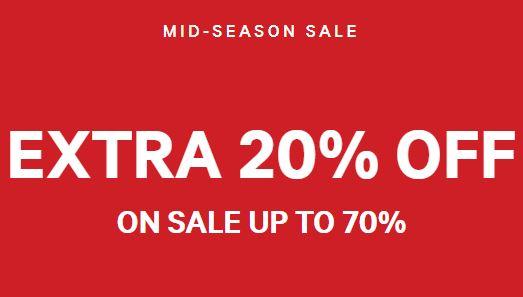 Actie: 20% extra korting op sale @ H&M