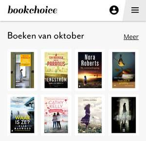 8 ebooks / audiobooks van Bookchoice