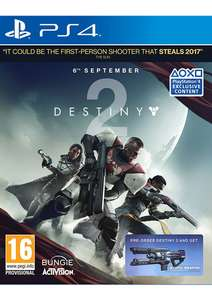 Destiny 2 + Coldheart Exotic Weapon DLC voor €36,50 @ SimplyGames